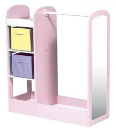 Pink Pastel Kids Dress Up Center with Mirror by Guidecraft
