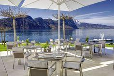 Die prachtvolle Seeterrasse im Park Hotel Vitznau