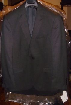 Blazer Gray Size 38 S Jacket 1 Button Washable Wool Blend Lycra New Tags NWT #Blazer #OneButton