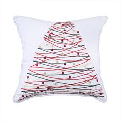 Affluence Home Fashions Holiday Embroidered Throw Pillow & Reviews | Wayfair