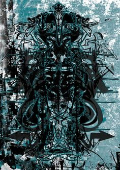 Alien-over-me / digital graphic / print100x70cm
