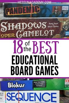 Do you know the best educational board games for large families? We love games and often have multiple players ranging in age from 3 to adult. Educational Board Games, Learning Games, Educational Software, Board Games For Kids, Family Board Games, Gifted Education, Education English, Learning Through Play, Family Game Night