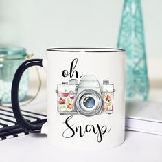 Oh Snap Photography Mug! What a great gift for the photographers in your life! Kinda punny too! :)