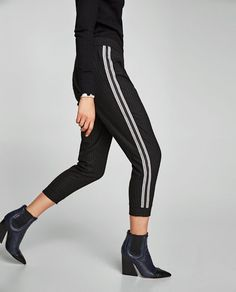 Image 2 of TROUSERS WITH CONTRASTING STRIPES from Zara 4332329d0d