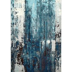 Add a style and contemporary design to your dwelling or business area by choosing this nuLOOM Abstract Haydee Blue Area Rug. Area Rug Sizes, Blue Area Rugs, Contemporary Rugs, Modern Rugs, Modern Carpet, Blue Abstract, Abstract Pattern, Rugs In Living Room, Living Room Designs