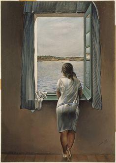 mujer mirando por la ventana dali - Buscar con Google