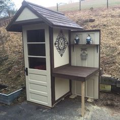 my little potting shed, diy, gardening, outdoor furniture, outdoor living, repurposing upcycling, The finished product