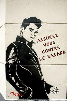 Assurez vous contre le hasard by Miss-Tic Art Public, Land Art, Street Artists, Urban Art, Les Oeuvres, Stencils, Artsy, Museum, Comics