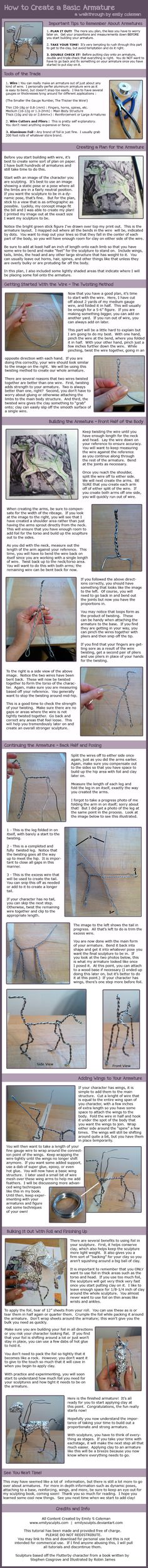 http://emilysculpts.deviantart.com/art/Tutorial-Building-an-Armature-for-a-Sculpture-322756422
