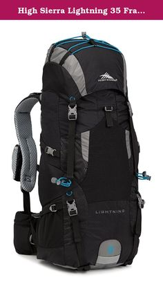 High Sierra Lightning 35 Frame Pack, Black/Charcoal/Pool. High sierra designs feature-rich, versatile adventure lifestyle gear for adventurers everywhere. Since our founding in 1978, we've committed ourselves to creating durable, affordable product with distinctive details, delivering the freedom to go anywhere-near or far, on roads or trails, on mountain ridges or snowy slopes, no matter what form your adventure takes.