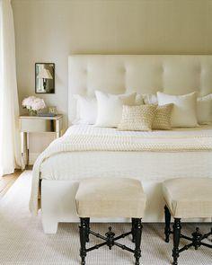 cream + white bedroom