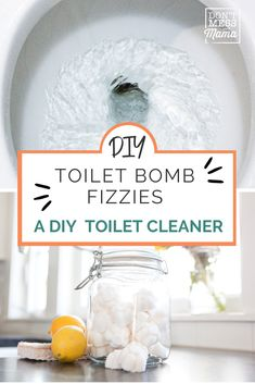 When switching to toxin-free living, natural cleaning products are the easiest place to start! These homemade toilet fizzies with essential oils will naturally clean and deodorize your toilet - saving you time, money and your home from chemicals! The perfect natural toilet cleaner for busy family life! #naturalcleaningproducts #toiletfizzies #toxinfreeliving