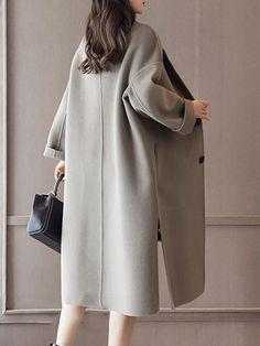 Plus Size Elegant Women Woolen Coats - Banggood Mobile
