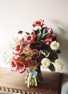 Wild Berry and Blush Bouquet   Jill Thomas Photography   Darkly Romantic Baroque Wedding Inspiration