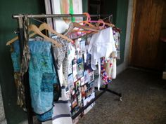 cloths stored in my working space.