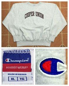 d060ea5c7a2 Champion Reverse Weave Men s XL Gray Sweatshirt ~ VTG Cooper Union College  Shirt
