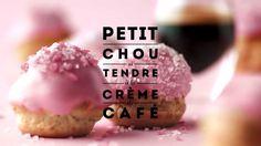 ROSE by Carte Noire : Petit chou si tendre à la crème de café - Amazing food prep video by French coffee company Carte Noir: coffee cream puffs with pink icing.