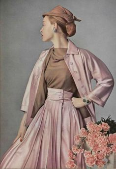 Fashion by Jacques Fath, 1952.