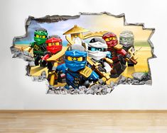 Professional Vinyl Wall Art Decals fromLove Sticker as seen on SKY and ITV Productions. Vinyl Room, Vinyl Wall Art, Wall Decals, Lego Wallpaper, Cartoon Wallpaper, Lego Room Decor, Lego Wall Art, Graffiti Bedroom, Latest Kids Toys