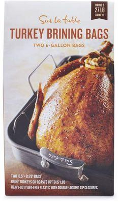 Sur La Table Turkey Brining Bags, Set of 2 Turkey Brining Bag, Breakfast Lunch Dinner, Breakfast Recipes, Dinner Recipes, Ketogenic Recipes, Vegan Recipes, Beef Ham, Vitamin A Foods, Vegane Rezepte