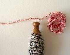 studio carta, wrapped cotton on vintage clothespin