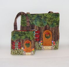 Mother daughter gift tree house bags with by MellowMurphy on Etsy, $96.00