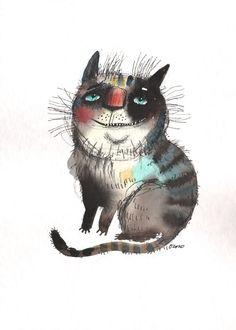 The Cat With Beautiful Eyes by Nastya Ozozo (Nastassia Atrakhovich)