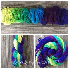 Indie Dyed Yarn Hand Dyed Yarn Gradient Yarn by WendysWonders127