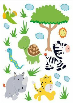 Fresh Wandsticker Mega Set Baby Safari Tiere kinderzimmer Pinterest Babies and Safari