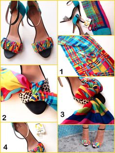 DIY - how to cover your shoes with fabric