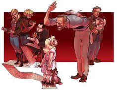 Ruby, Meg, Crowley, Lilith, Alistair, Yellow Eyes- Supernatural fan art