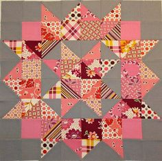 Doll Quilt Swap top If this doesn't make you want to make a swoon quilt nothing will!If this doesn't make you want to make a swoon quilt nothing will! Star Quilt Blocks, Star Quilts, Scrappy Quilts, Quilt Block Patterns, Mini Quilts, Block Quilt, Quilt Top, Colchas Quilting, Quilting Projects