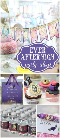 This Ever After High party is held at a bakery where they decorate cupcakes! See more party ideas at CatchMyParty.com!