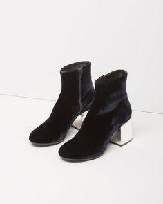 MM6 Maison Margiela | Velvet Ankle Boot | La Garçonne
