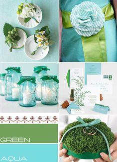 Aqua green wedding colors palette,aqua summer wedding