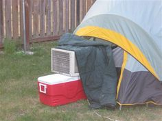 Tent Air Conditioner Picture | Break.com & Put an a/c boot into any tent easily with this kit. Itu0027s not cheap ...