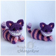 Cheshire Cat from Alice in Wonderland Plush by xMangoRose on DeviantArt Cat Amigurumi, Cheshire Cat, Alice In Wonderland, Crochet Projects, Knit Crochet, Crochet Necklace, Crochet Patterns, Plush, Artsy