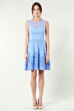 Dresses | Purple Chiffon Tapework Prom. | Warehouse