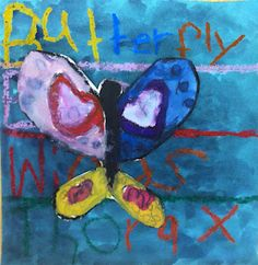 Nice lesson to incorporate the regular classroom into the art room.  For students learning about butterflies, have them write their butterfly vocab in oil pastels in the background...then do a watercolor wax resist.  Draw/paint butterflies on separate paper, cut and glue onto the vocab background!