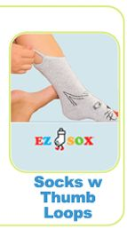 Socks w/ loops, AFO socks, protective clothes and waterproof bandanas - cool little website for special ADL needs