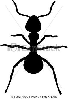 Clip Art Vector of Ant silhouette - Search Clipart . Sugar Ants, Vector Graphics, Fourth Of July, Metal Art, Quilt Blocks, Summer Fun, Stencils, Diy And Crafts, Clip Art
