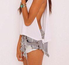 DIY shirt easy greay workout shirt or bikini cover up