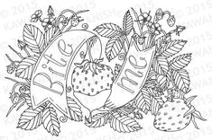 bite me adult coloring page gift wall art funny humor by Kawanish  Davlin Publishing #adultcoloring