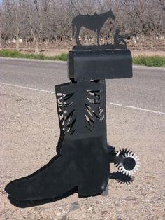 western boot & spur mailbox