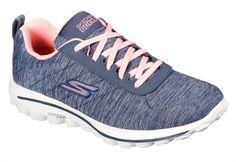 Skechers Ladies GoGolf Walk Sport Golf Shoes - Navy/Pink