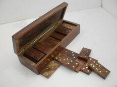gioco del domino in legno/ottone