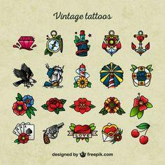 vintage tattoo Super tattoo old school design vintage retro sailor jerry Ideas Retro Tattoos, Mini Tattoos, Trendy Tattoos, Body Art Tattoos, New Tattoos, Vintage Tattoos, Tatoos, Arabic Tattoos, Dragon Tattoos