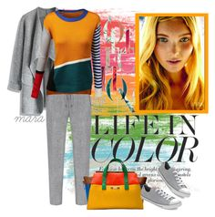 """Life in color"" by marastyle ❤ liked on Polyvore featuring Chicwish, Doublju, Dsquared2 and Converse"