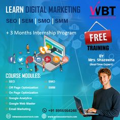 web booster tech is a website designing, web development and best digital marketing company in india providing services as per business need. Marketing Training, Email Marketing, Internship Program, Best Digital Marketing Company, Google Analytics, S Mo, Free Training, Hyderabad, Layouts