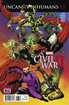 MARVEL COMICS (W) Charles Soule (A) Carlos Pacheco, Aaron Kim Jacinto (CA) Ryan Stegman CIVIL WAR II TIE-IN! • While the heroes of the Marvel Universe battle it out with each other, Medusa and the Inh